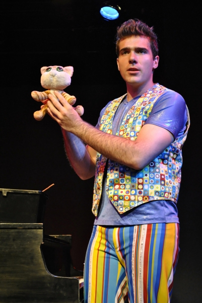 "Jonathan Roxmouth with a prop from ""Andrew Lloyd Webber's CATS"""
