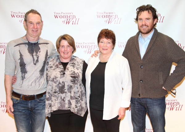 Nigel Gore, Producer Sarah Hancock, Tina Packer & Director Eric Tucker  at Cast of WOMEN OF WILL Meets the Press!