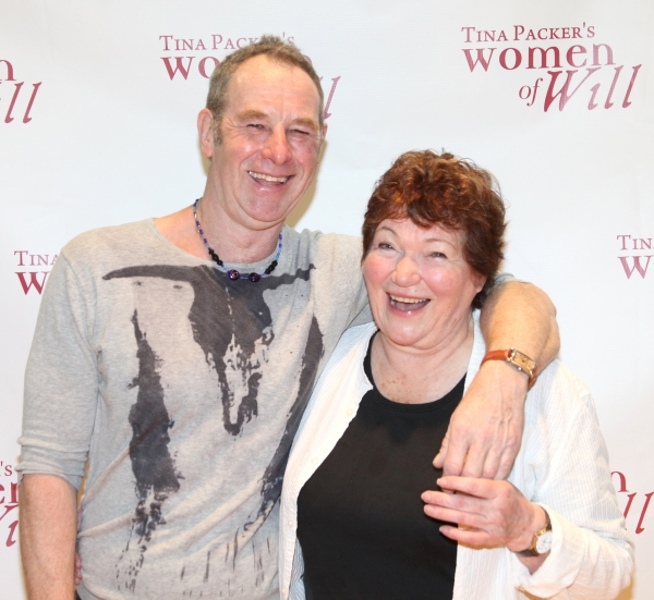 Nigel Gore & Tina Packer at Cast of WOMEN OF WILL Meets the Press!