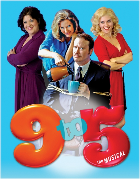 "Jean Ferreira as ""Judy"", Jennifer Jones as ""Violet"", Carla Holbrook as ""Doralee"" and Josh Rhett Noble as ""Franklin Hart, JR."""