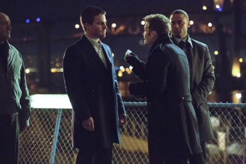 Stephen Amell, Seth Gabel, David Ramsey