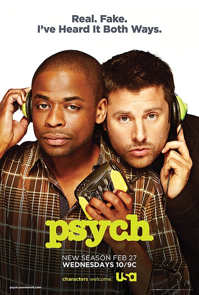 Photo Flash: First Look - New Fan-Created Tag Line for USA's PSYCH