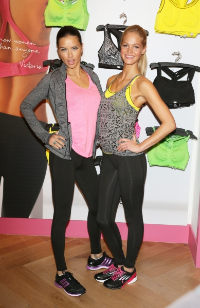Adriana Lima and Erin Heatherton at Victoria's Secret Angels Photocall, New York (Photo by Erik Pendzich / Rex USA)
