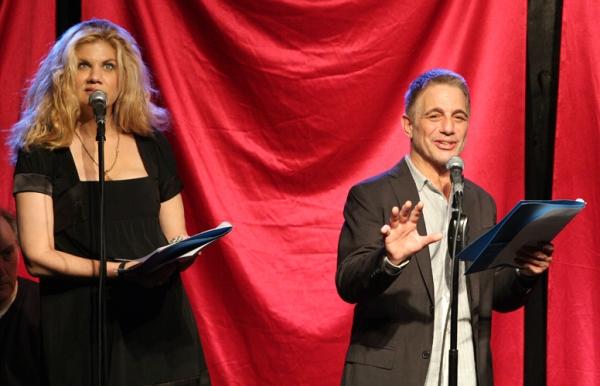 Kristen Johnston and Tony Danza at Mario Cantone, Tony Danza and More in CELEBRITY AUTOBIOGRAPHY