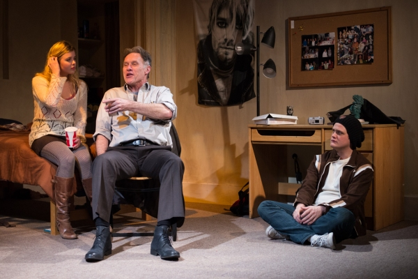 Anna Stromberg as Doe, Michael Cullen as Professor Denton and Nick Lawson as Bromley Photo