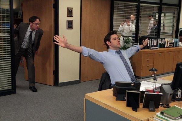 Rainn Wilson, John Krasinski  at THE OFFICE's 'Junior Salesman,' Airing 1/31