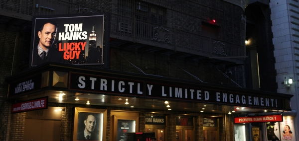 Up on the Marquee: Makeover for Tom Hanks in LUCKY GUY