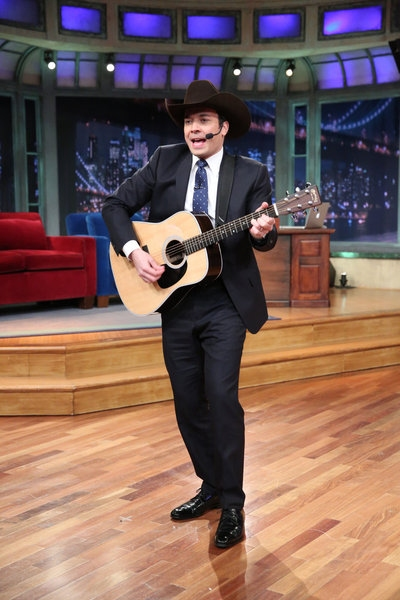 Jimmy Fallon  at Chastain, Gad, & More on Last Night's LATE NIGHT