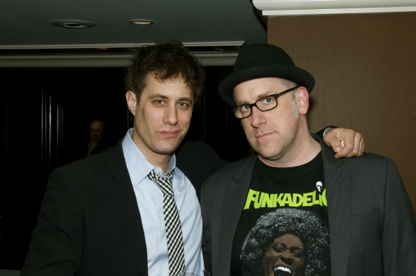 Producer Justin Reinsilber (left) and playwright Michael Puzzo (right)