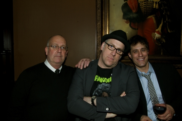 Director Frank Licato (left), playwright Michael Puzzo (center) and producer Justin Reinsilber (right)