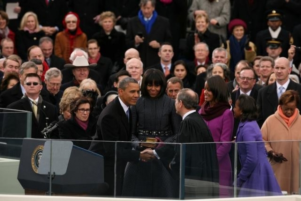 BARACK OBAMA, MICHELLE OBAMA at ABC NEWS' Inauguration Day Coverage