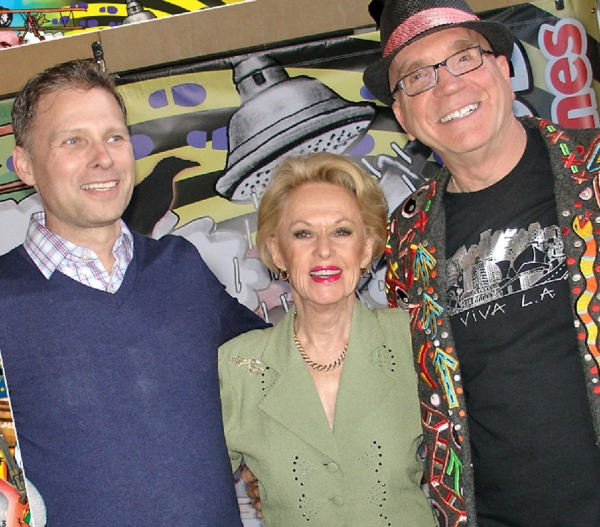 Tony Hoover, Tippi Hedren and Andre Miripolsky