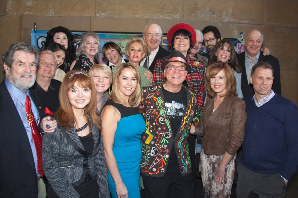 Red Line Tour personalities (lft to rt) Hugh O'Brian, Johnny Whitaker, Romi Dames, Babara Van Orden, Judy Tenuta, Veronica Cartwright, Alison Arngrim, Geri Jewell, Erin Murphy, Tippi Hedren, Richard Herd, Andre Miripolsky, JoAnne Worley, Jack Betts, Geor at Red Line Tours Launches 2013 Collectors Tickets Honoring Hollywood Directors
