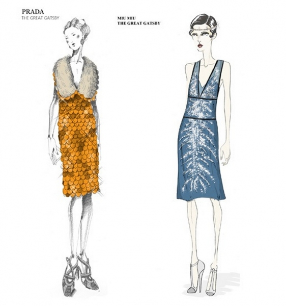 Photo Coverage: Miuccia Prada Released Four Great Gatsby Costumes