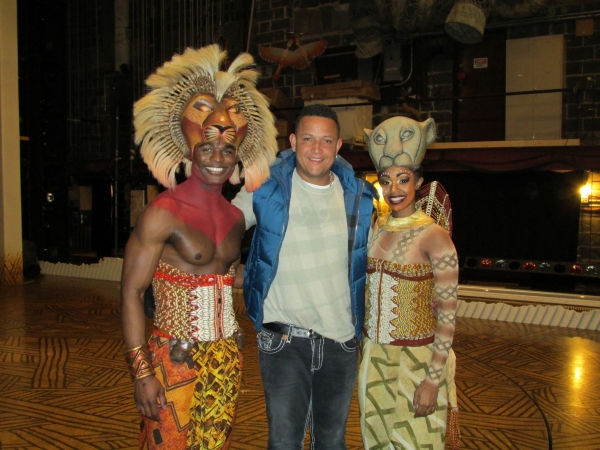 Photo Flash: Detroit Tigers' Miguel Cabrera Visits THE LION KING