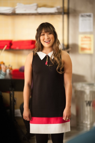 Jenna Ushkowitz at First Look at GLEE's 'Sadie Hawkins' Episode