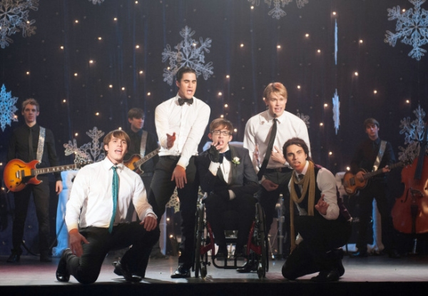 Blake Jenner, Darren Criss, Kevin McHale, Chord Overstreet and Samuel Larsen