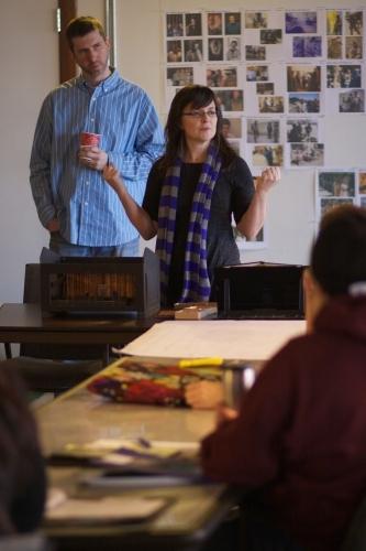 Director Heidi Stillman and Ensemble Member Dan Ostling