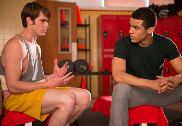 Blake Jenner, Jacob Artist at First Look at GLEE's 'Naked' Episode