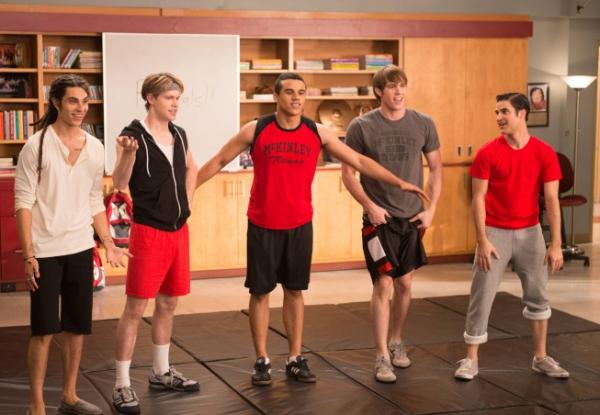 Samuel Larsen, Chord Overstreet, Jacob Artist, Blake Jenner, Darren Criss
