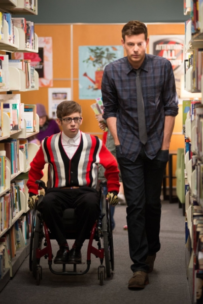 Kevin McHale, Cory Monteith at First Look at GLEE's 'Naked' Episode