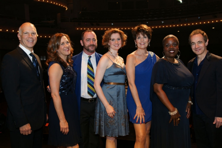 High Res David Zippel, Karen Ziemba, Chris Marlowe, Christiane Noll, Lucie Arnaz, Lillias White and Jason Graae