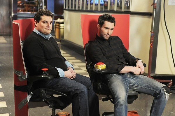 Photo Flash: First Look at Adam Levine in Rehearsals for SNL!