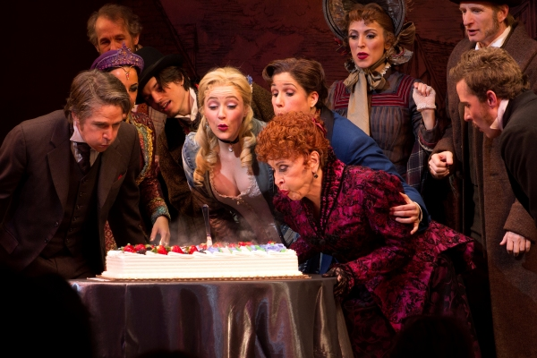 Chita Rivera and the cast of The Mystery of Edwin Drood