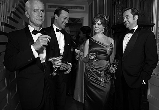 John Slattery, Jon Hamm, Christina Hendricks, Vincent Kartheiser at First Look at MAD MEN Season 6!