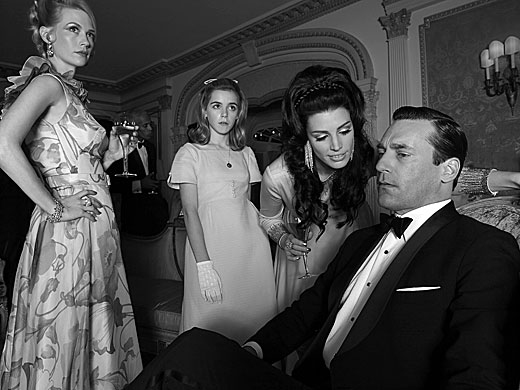 January Jones, Jessica Pare, Jon Hamm Photo