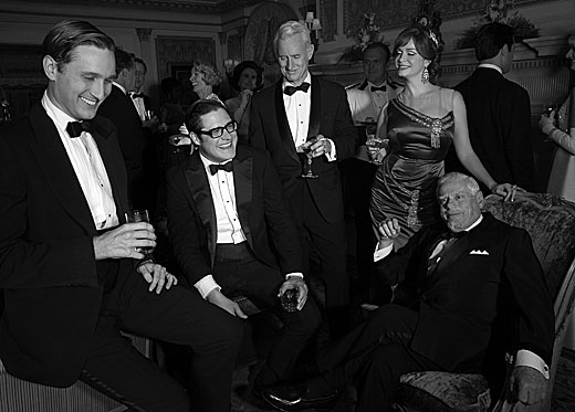 Aaron Staton, Rich Sommer, John Slattery, Christina Hendricks at First Look at MAD MEN Season 6!
