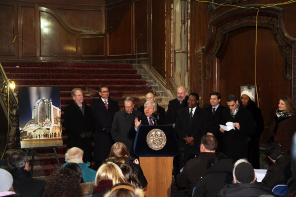 Photo Flash: BP Markowitz, Mayor Bloomberg Break Ground on Restoration of Loew's Kings Theatre in Flatbush