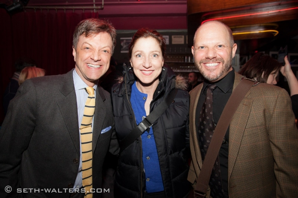 Jim Caruso, Edie Falco and Tony Humrichouser at Stephen Wallem Plays Broadway at Birdland!