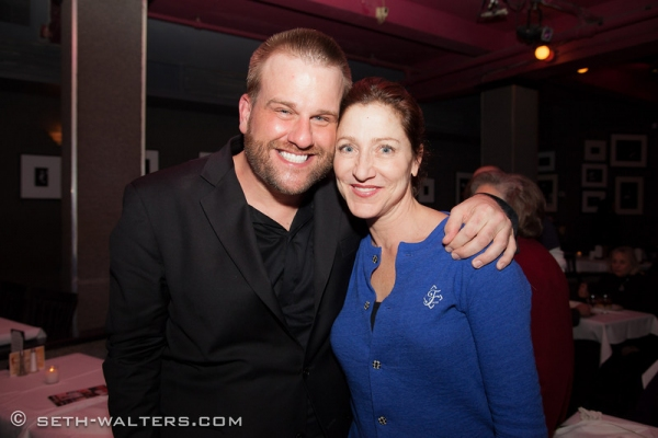 Stephen Wallem, Edie Falco at Stephen Wallem Plays Broadway at Birdland!