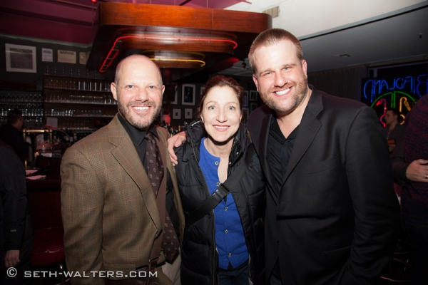 Tony Humrichouser, Edie Falco and Stephen Wallem