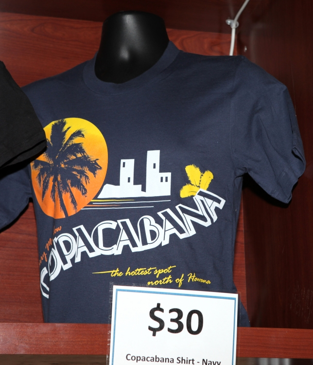 High Res Barry Manilow merchandise booth for 'Manilow On Broadway' at The St. James Theatre