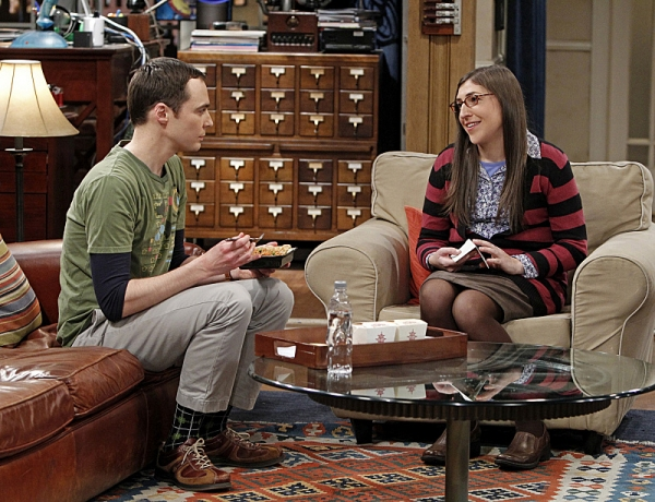 Jim Parsons, Mayim Bialik at THE BIG BANG's 'Spoiler Alert Segmentation,' Airing 2/7