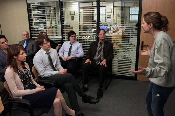 Phyllis Smith, Ellie Kemper, Creed Bratton, Jake Lacy, Clark Duke, Rainn Wilson, Jenna Fischer