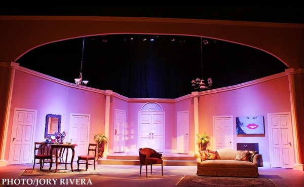Miguel Faustmann's set design for Repertory Philippines's BOEING-BOEING