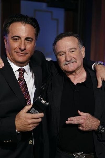 Andy Garcia, Robin Williams at Matt Damon & Friends Hijack JIMMY KIMMEL LIVE