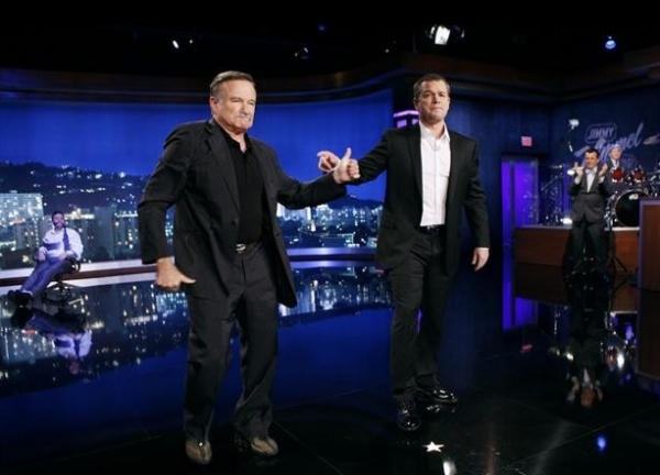 Robin Williams, Matt Damon at Matt Damon & Friends Hijack JIMMY KIMMEL LIVE