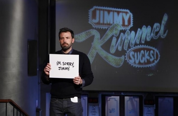 Ben Affleck at Matt Damon & Friends Hijack JIMMY KIMMEL LIVE