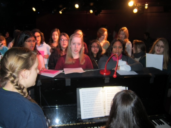 Believe NYC founder, Jacque Carnahan, with Fulmore Middle School Choir Director, Yvet Photo