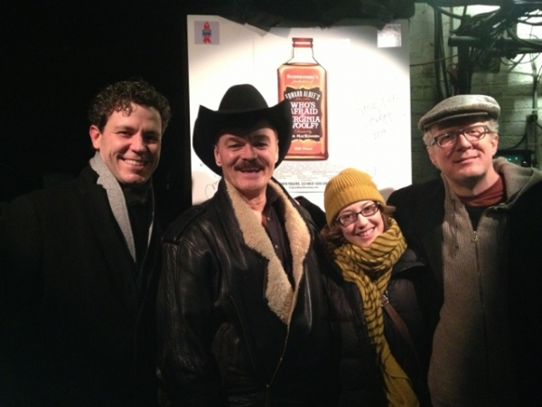 Madison Dirks, Randy Jones, Carrie Coon and Tracy Letts at Randy Jones, Cowboy from The Village People, Visits VIRGINIA WOOLF