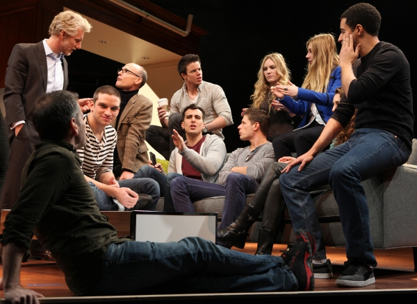 Playwright Paul Downs Colaizzo & Director David Cromer, Blake West, Will Cantler with Evan Jonigkeit, David Hull, Aleque Reid, Matt Lauria, Zosia Mamet, Lauren Culpepper & Kobi Libii   at Meet the Company of MCC Theater's REALLY REALLY