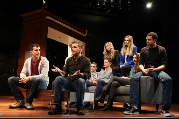 Playwright Paul Downs Colaizzo & Director David Cromer with Evan Jonigkeit, David Hull, Aleque Reid, Matt Lauria, Zosia Mamet, Lauren Culpepper & Kobi Libii at Meet the Company of MCC Theater's REALLY REALLY
