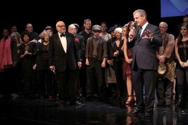 Harold Prince & Cameron Mackintosh at THE PHANTOM OF THE OPERA Celebrates 25th Anniversary Curtain Call!