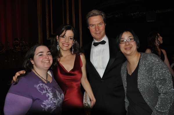 Ron Bohmer and Sandra Joseph with two Phantom Of The Opera ticket winners-Karen Ebling and Jen Lau