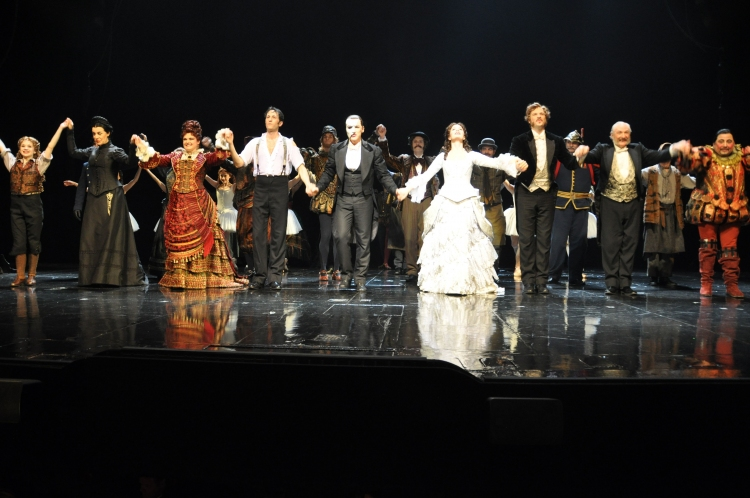 High Res Michele McConnell, Kyle Barisch, Hugh Panaro, Sierra Boggess, Jim Weitzer and TIm Jerome