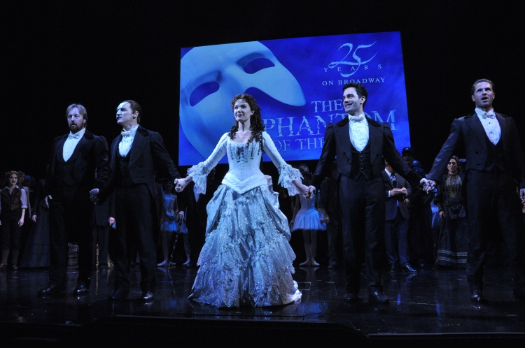 High Res John Owen Jones,Hugh Panaro, Sierra Boggess, Ramin Karimloo and Peter Joback